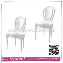 Louis white side chair