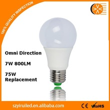 Lower Energy Costs 7W Stable 220 volt led light bulbs