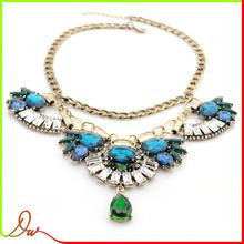popular wholesale large blue stone costume jewelry in korea