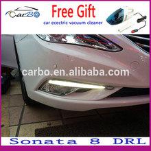 2014 high power LED DRL daytime running lights used Hyundai Sonata 8,100% waterproof&safty installation