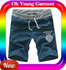 Wholesale Man Loose Sport Pant Casual Mans 100 Cotton Knitted Sports Short Half Pants OEM