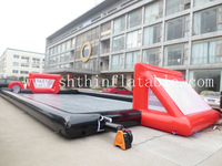 20*10*2.5m big inflatable soap football field / soccer football field for sale
