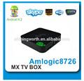 Amlogic8726ม. coredualdvb- s2กล่องหุ่นยนต์iptv