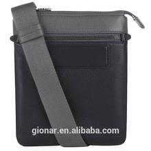 man envelope black genuine leather cross body bag,portable travel bag men,men's shoulder bag