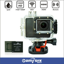 16MP 160 Degree Portable Ambarella A7L Action Video With Wifi and 2''LED
