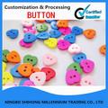 Custom Colourful Heart Shaped Button