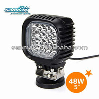 Sanmak professional lighting USA CREE 48W LED work Light Square 4x4 off-road ATV, mining, motorcycle, boat