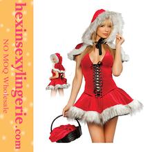 Sexy women red hood Chrismas Costume Women Hat Dress