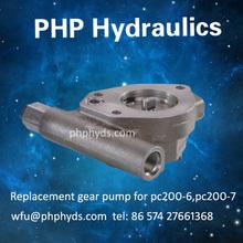 Gear Pump, Pilot Pump, Charge Pump for Komatsu PC200-7 Excavator Hydraulic Pump Hpv95