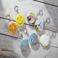 promotional gift custom round badge keychain,key chain