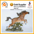 """12.5"""" resina estatua del caballo a caballo de la resina para la decoración del hogar caballo antiguo modelo de resina"""