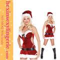 sexy de terciopelo de navidad de santa claus para adultos traje de las señoras