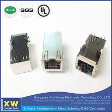 ROHS/UL 1x1 Port POE Magnetic Modular Jack RJ Connector