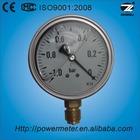 4'' 100mm oil filled bottom type vacuum pressure gauge