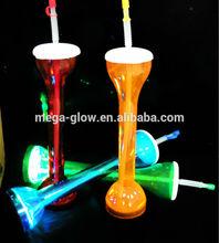 LED Yard Cup Led Flashing Straw Bottle, Party supplies led straw bottle