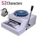 Personagens 52 manual militar do exército impressora tag cão máquina de gravação, aço metal cartão de pet pressador máquina de carimbar