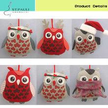 2015 unique christmas decoration owl