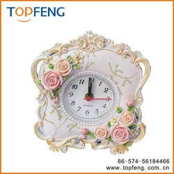 Petite Floral Alarm Clock/antique table clock/pretty alarm clock