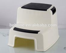 Child PP antiskid plastic two step stool/ foot chair/kick stool