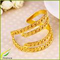 quattro file di ferro grosso grosso collegamento braccialetto braccialetto a catena di colore oro