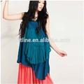 Jiqiuguer original design vintage retro applique plus size irregular hem halter top fashion