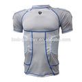Rugby fútbol acolchado jersey, Fútbol americano traje, Compresión acolchado desgaste