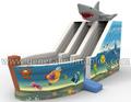 2014 novo design inflável mundo mar slide tubarão para venda