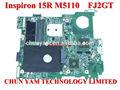 Venta al por mayor cn- 0fj2gt 0fj2gt fj2gt para inspiron 15r m5110 amd portátil pc portátil la placa base del sistema& junta de trabajo perfecto
