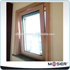 2014 latest design solid wood burglar proof windows with blind inside