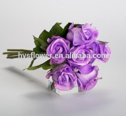Purple rose bunch wedding bridal bouquet light purple ...