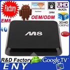 M8 + M8N Amlogic S802 XBMC 13.2 Quad Core Android 4.4 kitkat Google 4K Smart TV Box 2GB RAM 8GB ROM EM8