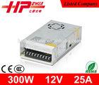 Constant voltage high efficiency single output 300w ac 230v 60hz dc 12v power supply