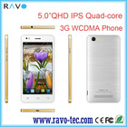 5inch MT6582 Quad core 3G/WCDMA IPS screen android smartphone