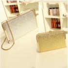 Summer fashion models chain clutch handbags metallic evening bags