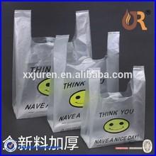 T-shirt thank you plastic bag/ plastic bag/t-shirt bag