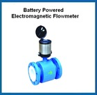 Intergral type flange Mounted battery powered electromagnetic flowmeter