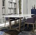 moderna mesa de jantar e cadeira tampo de mármore ou de madeira topo