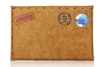 Factory price hot selling envelope leather case for apple ipad