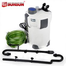 plastic sponge white water filter with UV lamp indoor aquarium HW-304B