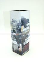 Christmas Gift Square Tall Metal Tin Can/Tin Box