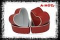 alta qualidade multa de forma coração vermelho ramequins porcelana caneca