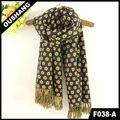 F038-a de invierno cálido de larga bufanda bufandas y chales de pashmina bordado