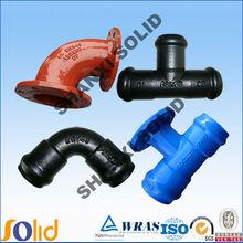 epoxy coated cast iron pipe fitting