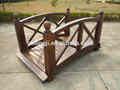 2014New garden ornaments wooden bridge 100% soild wood