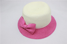 Baby Paper Straw Hat with Ribbon