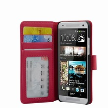 Cell Phone Flip Leather Case for HTC One Mini 601e