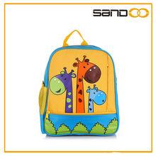2014 walmart bag for children, animal design Schultasche giraffe backpack for school