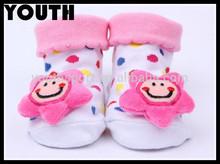 Recién nacido niño calcetines del piso zapatos zapatos de bebé antideslizantes calcetines