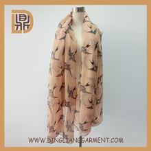 2014 fashionable printed wholesale hijab 100 polyester scarf