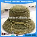 wholsale popular estilo de vender bem primavera crochet chapéu de verão